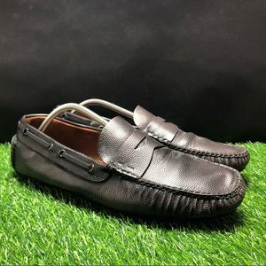 The Original Car Shoe Leather Penny Loafers